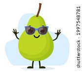cute and funny pear character... | Shutterstock . vector #1997548781