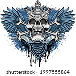 gothic sign with skull and... | Shutterstock .eps vector #1997555864