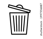 trash can tine line icon.... | Shutterstock .eps vector #1997556887