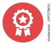 badge white glyph icon in...