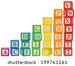 alphabet blocks | Shutterstock .eps vector #199761161