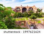Roman Forum Ruins  Rome  Italy. ...