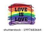 love is love rainbow love wins... | Shutterstock .eps vector #1997683664