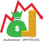 money loss icon on white... | Shutterstock .eps vector #1997701151