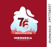 happy 76th indonesian...   Shutterstock .eps vector #1997708357