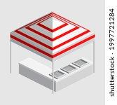 isometric market stall  tent.... | Shutterstock .eps vector #1997721284