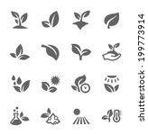 plants icons   Shutterstock .eps vector #199773914