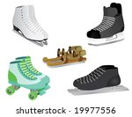 5 different skates  from ice... | Shutterstock .eps vector #19977556