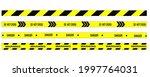 crime line tape. police danger... | Shutterstock .eps vector #1997764031