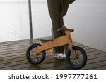Old children's wooden bicycle...