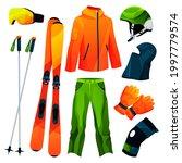 skiing equipment  sport tools...   Shutterstock .eps vector #1997779574
