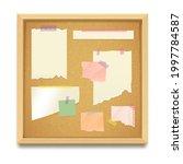 cork board or noticeboard...   Shutterstock .eps vector #1997784587
