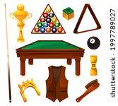 billiards equipment or game...   Shutterstock .eps vector #1997789027