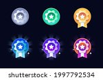 game rating icons with medals....
