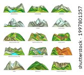 mountains or rocks natural...   Shutterstock .eps vector #1997801357