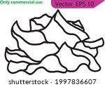 silhouette of black and white... | Shutterstock .eps vector #1997836607