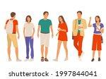set of young men and women ... | Shutterstock .eps vector #1997844041