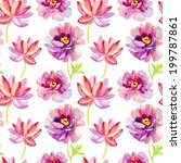 seamless tropical flowers for... | Shutterstock . vector #199787861