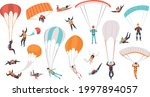 skydivers flying with... | Shutterstock .eps vector #1997894057