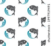 seamless pattern with fish and... | Shutterstock .eps vector #1997919491