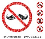 mosaic no curly mustache icon... | Shutterstock .eps vector #1997933111