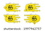 up to 75 percent discount.... | Shutterstock .eps vector #1997962757