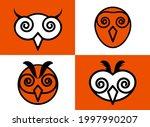 an owl is a nocturnal bird of...   Shutterstock .eps vector #1997990207