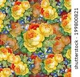 watercolor flower background.... | Shutterstock .eps vector #199800821