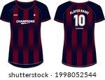 women sports jersey t shirt... | Shutterstock .eps vector #1998052544