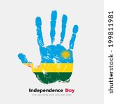 independence day. grungy style. ... | Shutterstock .eps vector #199811981