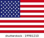 american flag | Shutterstock .eps vector #19981210