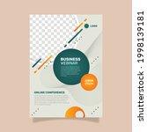 webinar flyer template with... | Shutterstock .eps vector #1998139181