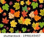 maple leafs random pattern with ... | Shutterstock .eps vector #1998145457