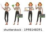 businesswoman working in office ... | Shutterstock .eps vector #1998148391