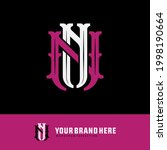 initial letters n or nn...   Shutterstock .eps vector #1998190664