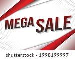 mega sale word concept vector...