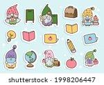 back to school gnome sticker ... | Shutterstock .eps vector #1998206447