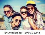summer holidays and teenage... | Shutterstock . vector #199821245