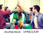 education concept   students... | Shutterstock . vector #199821539