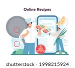 chef online service or platform....   Shutterstock .eps vector #1998215924