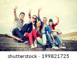 summer holidays and teenage... | Shutterstock . vector #199821725