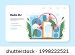 radio host web banner or... | Shutterstock .eps vector #1998222521