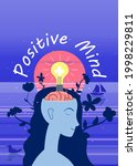 think positive. young beautiful ... | Shutterstock .eps vector #1998229811
