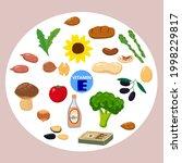 set of vitamin k origin natural ... | Shutterstock .eps vector #1998229817