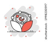 antioxidant icon in comic style.... | Shutterstock .eps vector #1998230597
