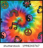 70s groovy retro print with... | Shutterstock .eps vector #1998243767