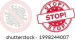 stop exclamation textured stamp ... | Shutterstock .eps vector #1998244007