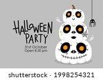 happy halloween greeting card... | Shutterstock .eps vector #1998254321