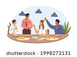people at corporate festive... | Shutterstock .eps vector #1998273131
