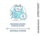 renewable energy storage option ... | Shutterstock .eps vector #1998378587
